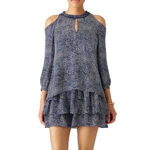 Derek Lam 10 Crosby Blue Mosaic Printed Dress Sz 6